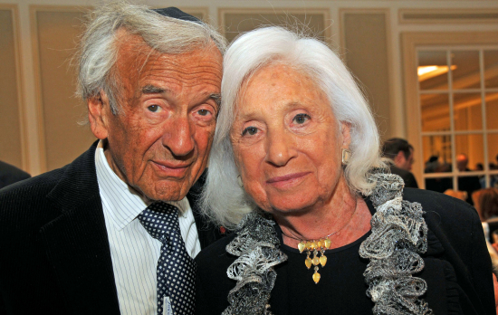 Elie Wiesel and wife Marion in 2014