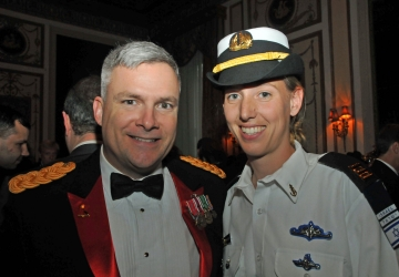 Col. Mike Gould of the U.S. Army and Capt. Shira of the Israel Navy at the FIDF dinner.