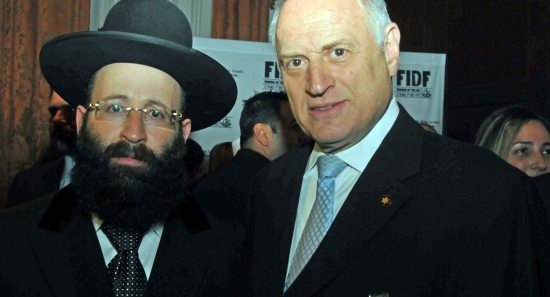 Rabbi Shmuel Rabinowitz of the Kotel and Malcolm Hoenlein of the Conference of Presidents of Major American Jewish Organizations