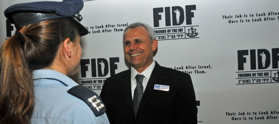 Female Israeli pilot and Maj. Gen. (Res.) Jerry Gershon, FIDF national director