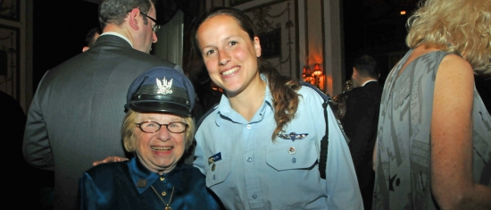 Dr. Ruth Westheimer and Capt. Shira of the Israel Air Force