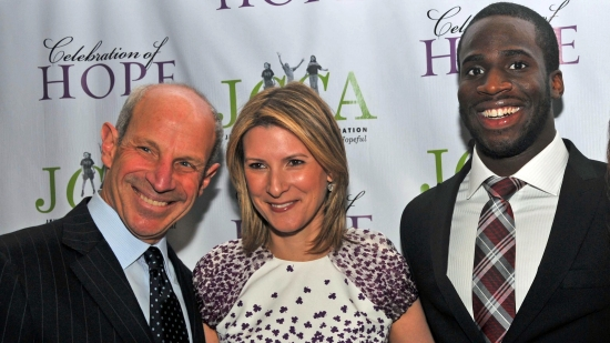 Jonathan and Lizzie Tisch with Prince Amukamara and Daun Paris
